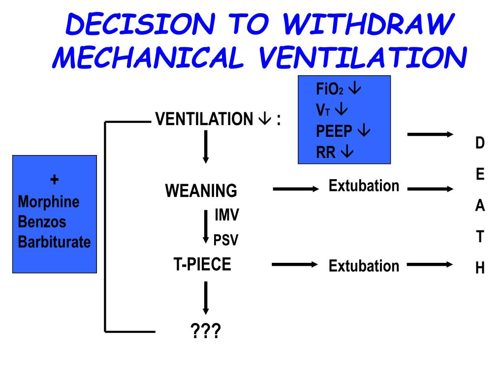 DECISION TO WITHDRAW  MECHANICAL VENTILATION