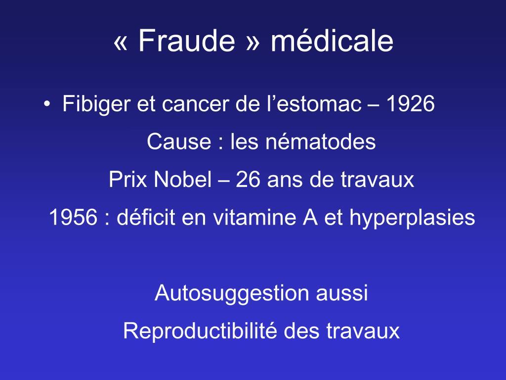 «Fraude» médicale