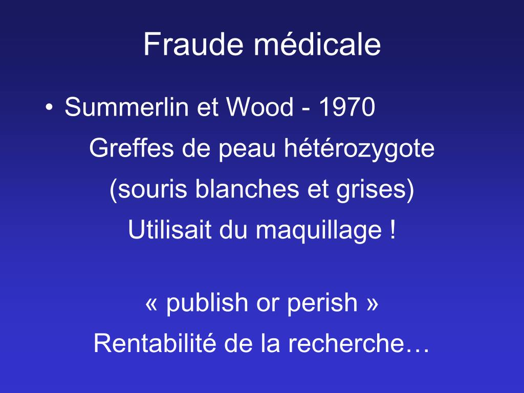Fraude médicale
