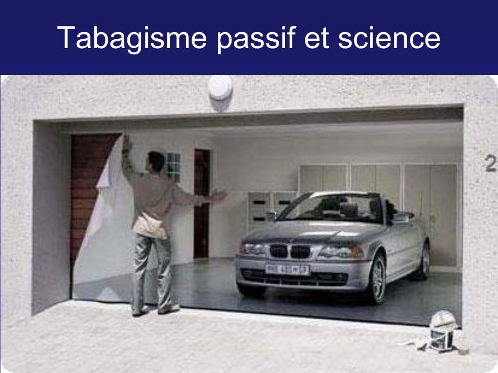 Tabagisme passif et science