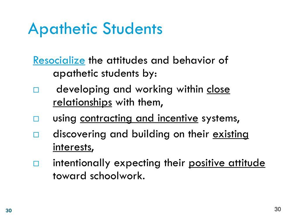 Apathetic Students