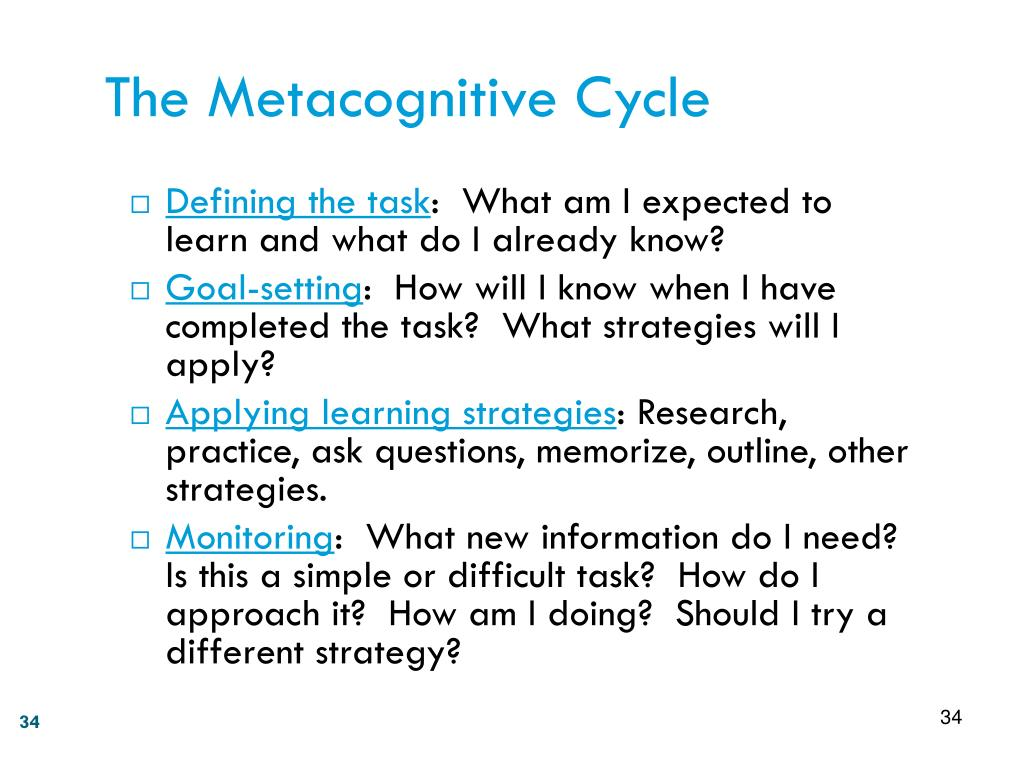 The Metacognitive Cycle