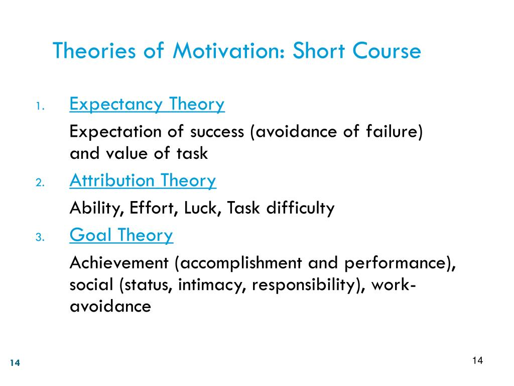 Theories of Motivation: Short Course