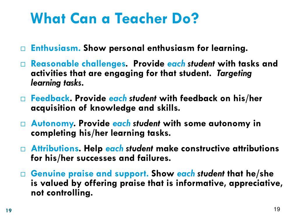 What Can a Teacher Do?