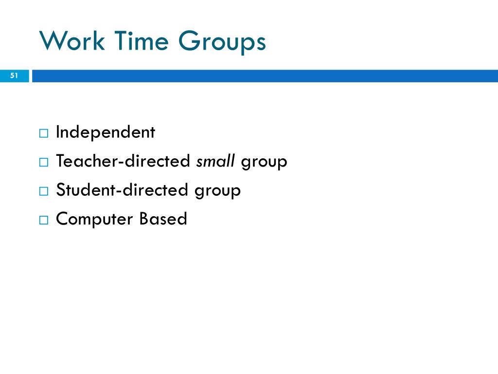 Work Time Groups