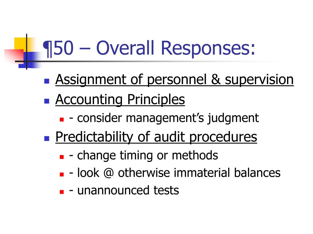 ¶50 – Overall Responses: