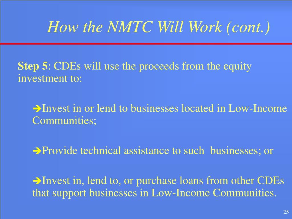 How the NMTC Will Work (cont.)