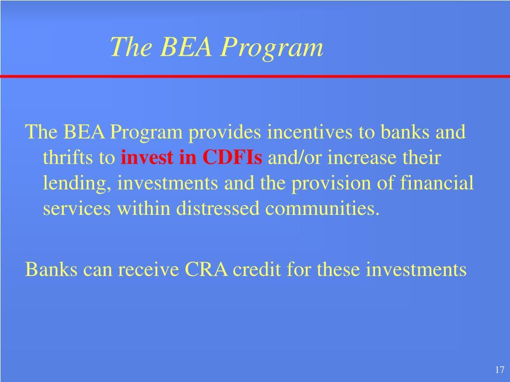 The BEA Program