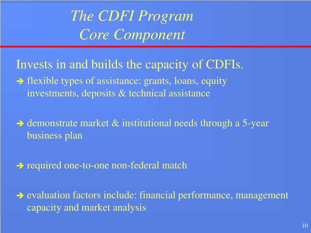The CDFI Program
