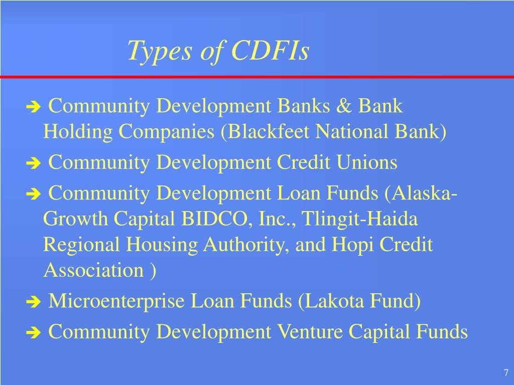 Types of CDFIs