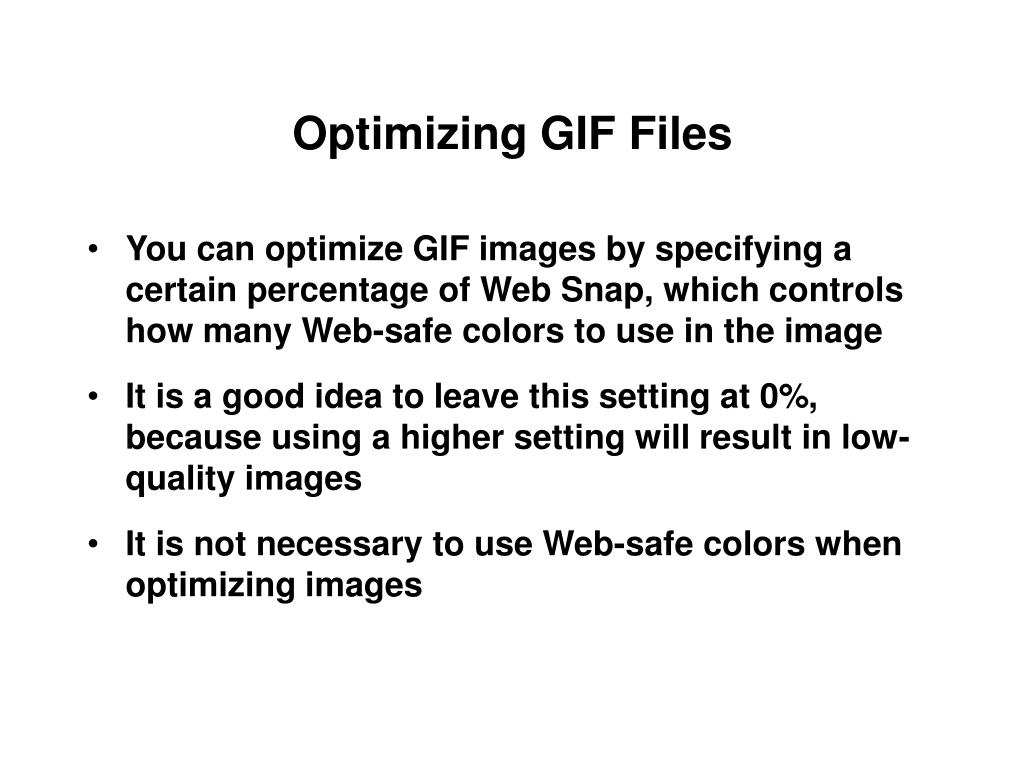 Optimizing GIF Files