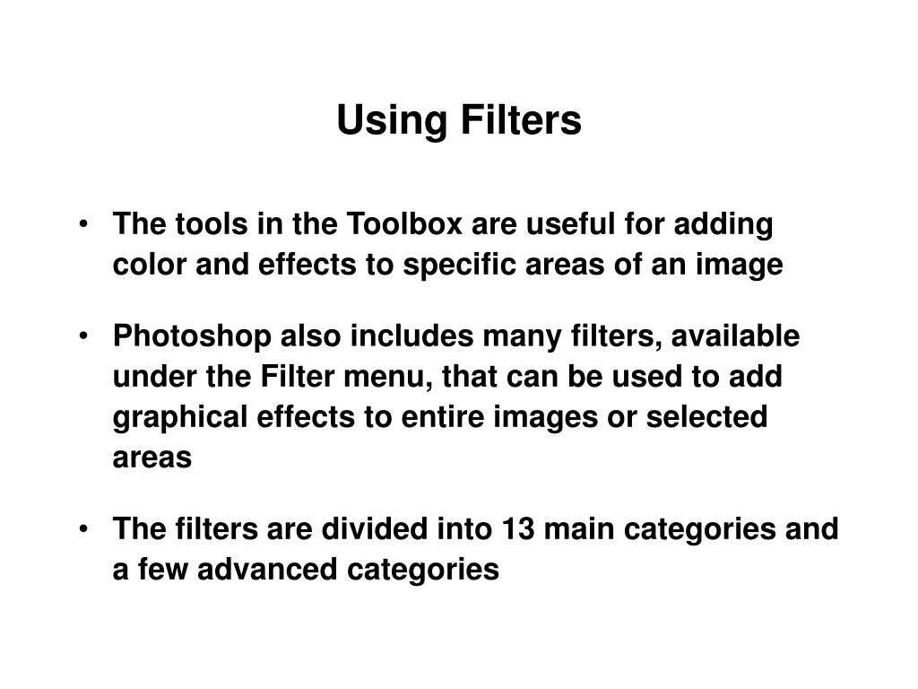 Using Filters