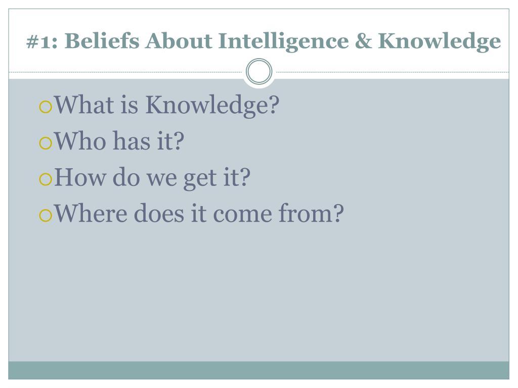 #1: Beliefs About Intelligence & Knowledge