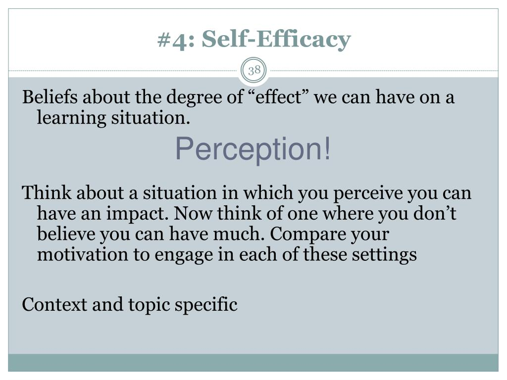 #4: Self-Efficacy