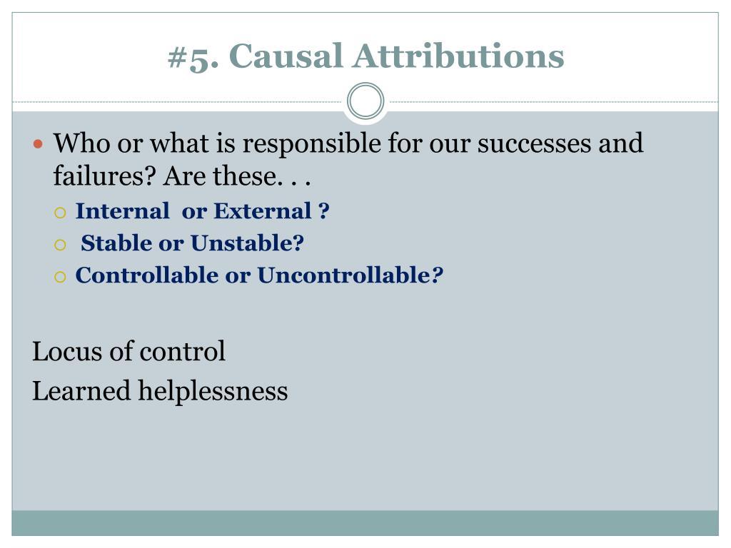 #5. Causal Attributions