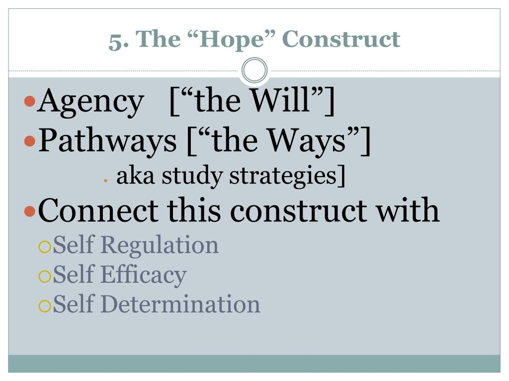 """5. The """"Hope"""" Construct"""