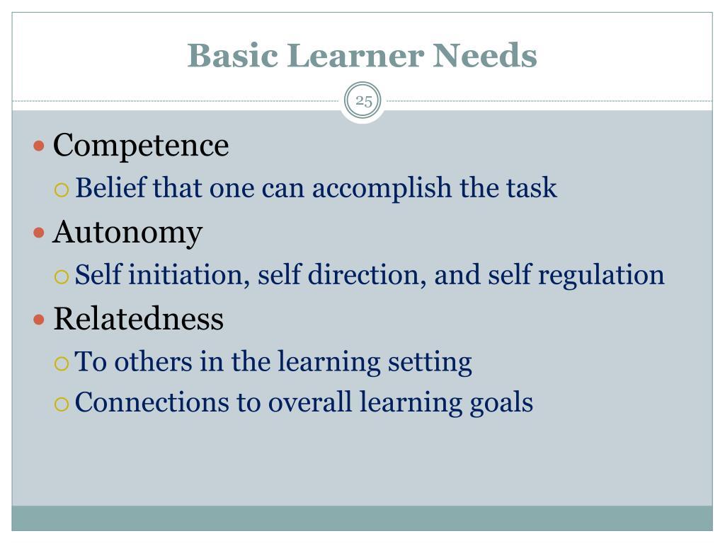 Basic Learner Needs