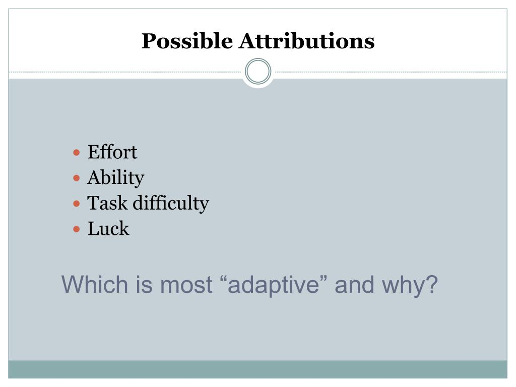 Possible Attributions