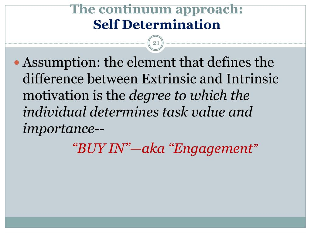 The continuum approach: