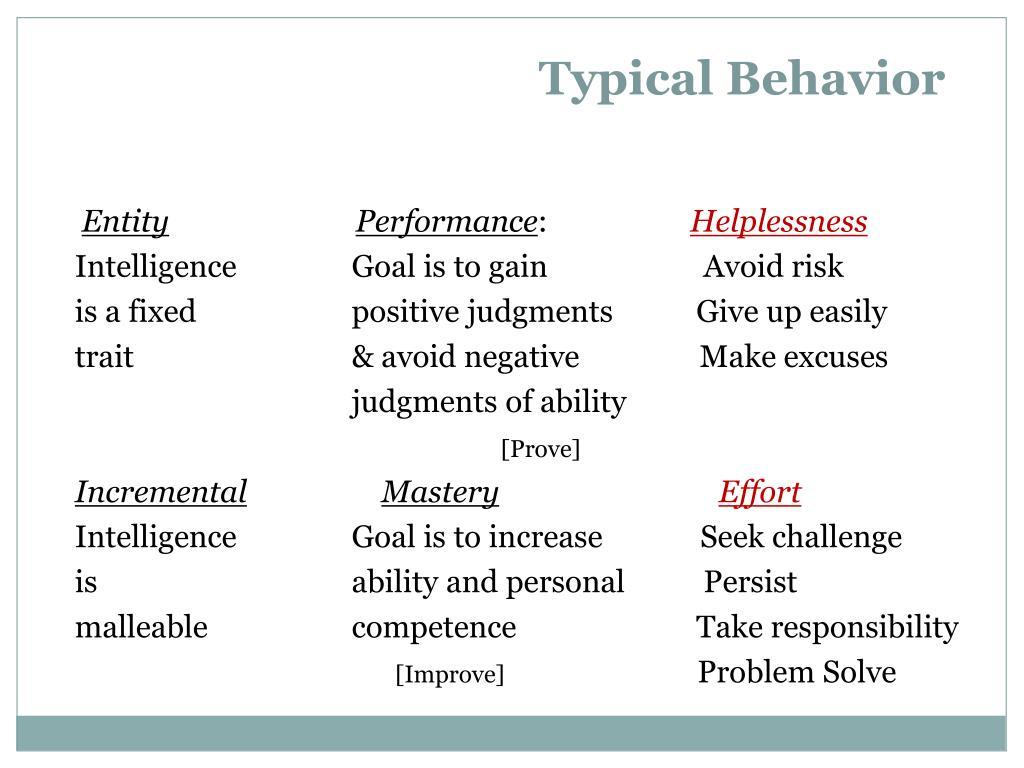 Typical Behavior