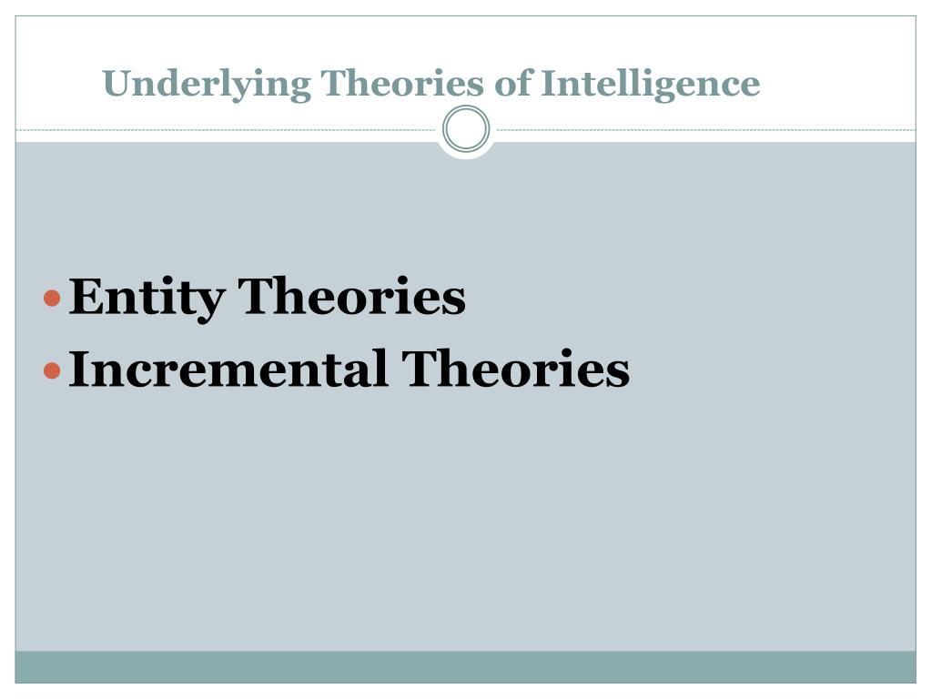 Underlying Theories of Intelligence