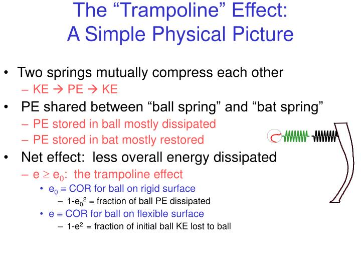 The trampoline effect a simple physical picture