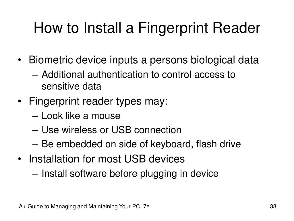 How to Install a Fingerprint Reader