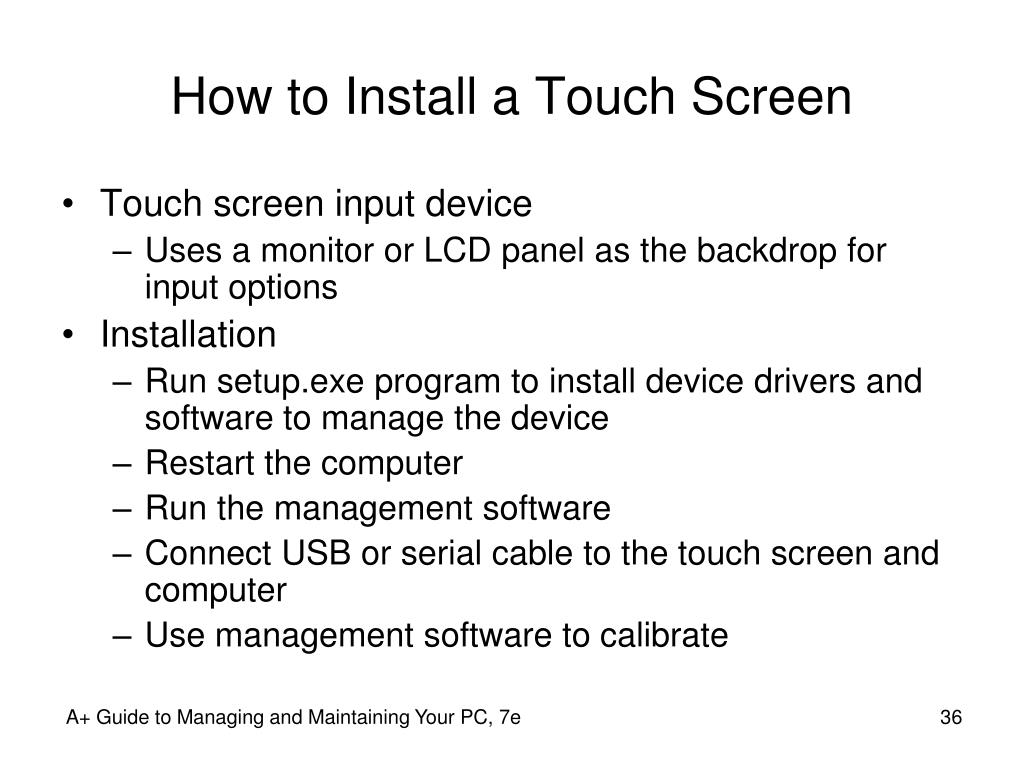How to Install a Touch Screen