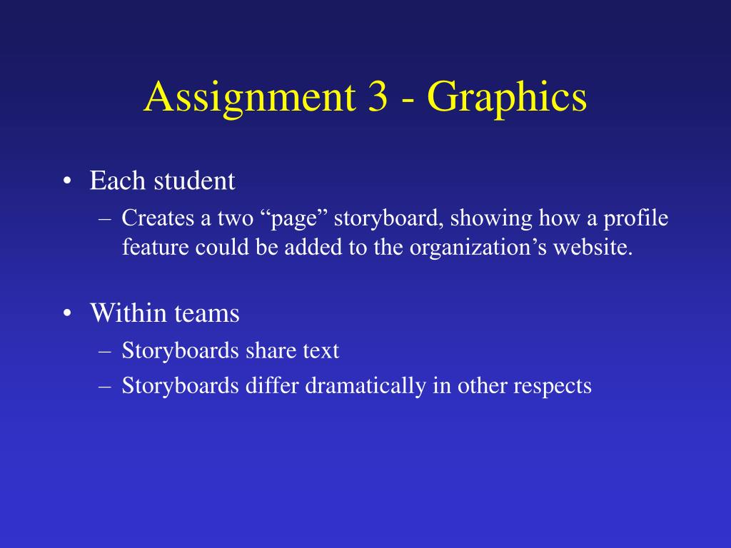 Assignment 3 - Graphics