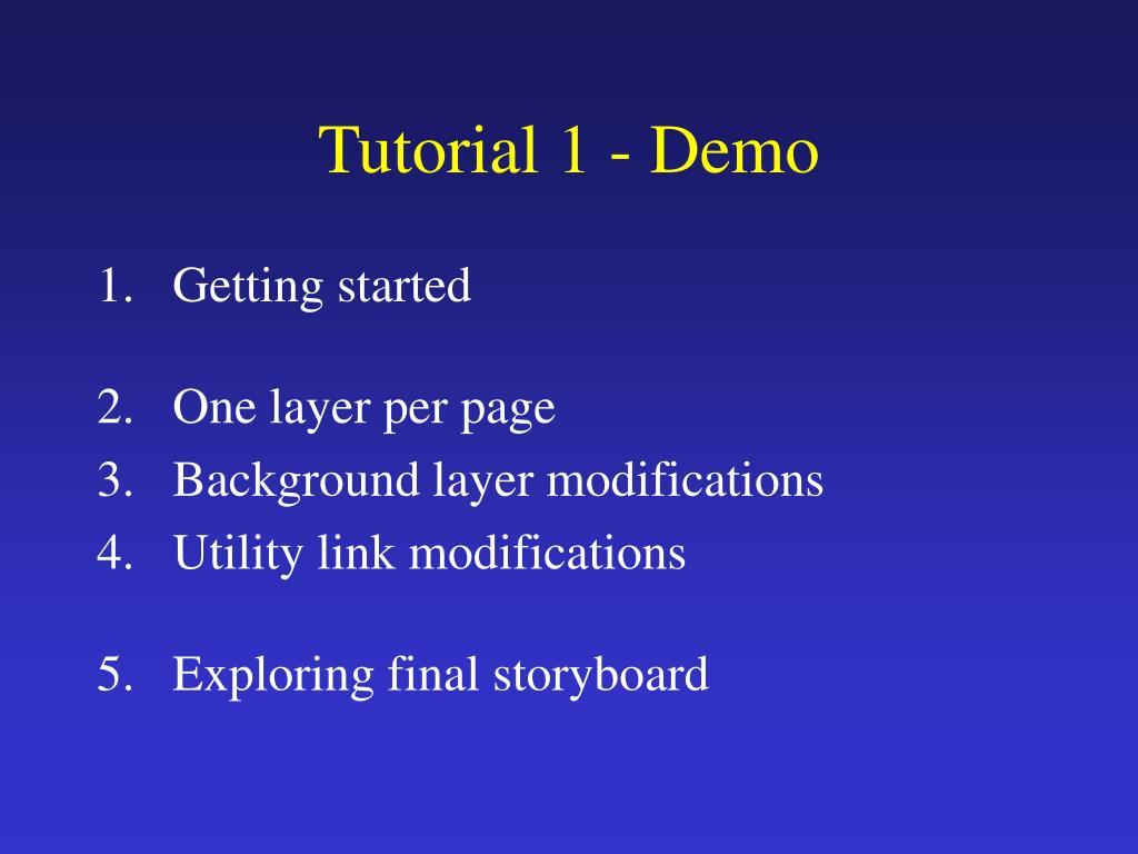 Tutorial 1 - Demo