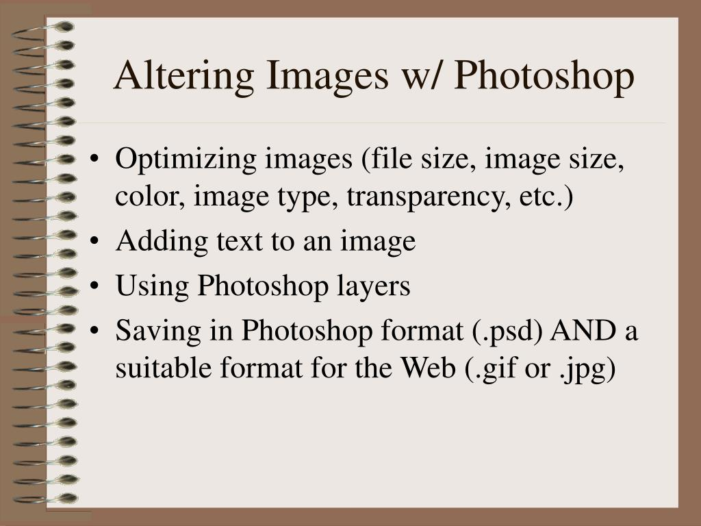 Altering Images w/ Photoshop