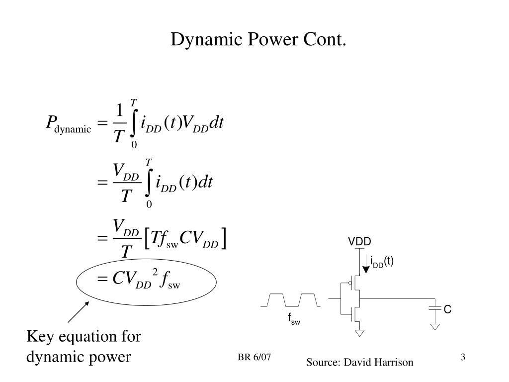 Dynamic Power Cont.