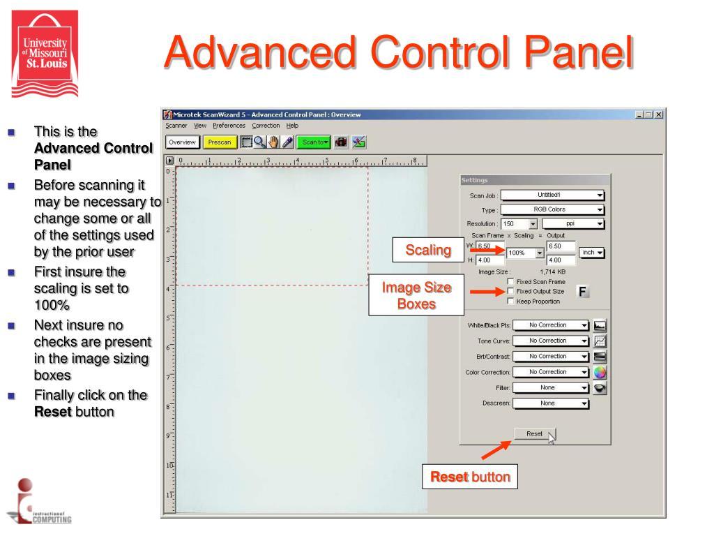 Advanced Control Panel