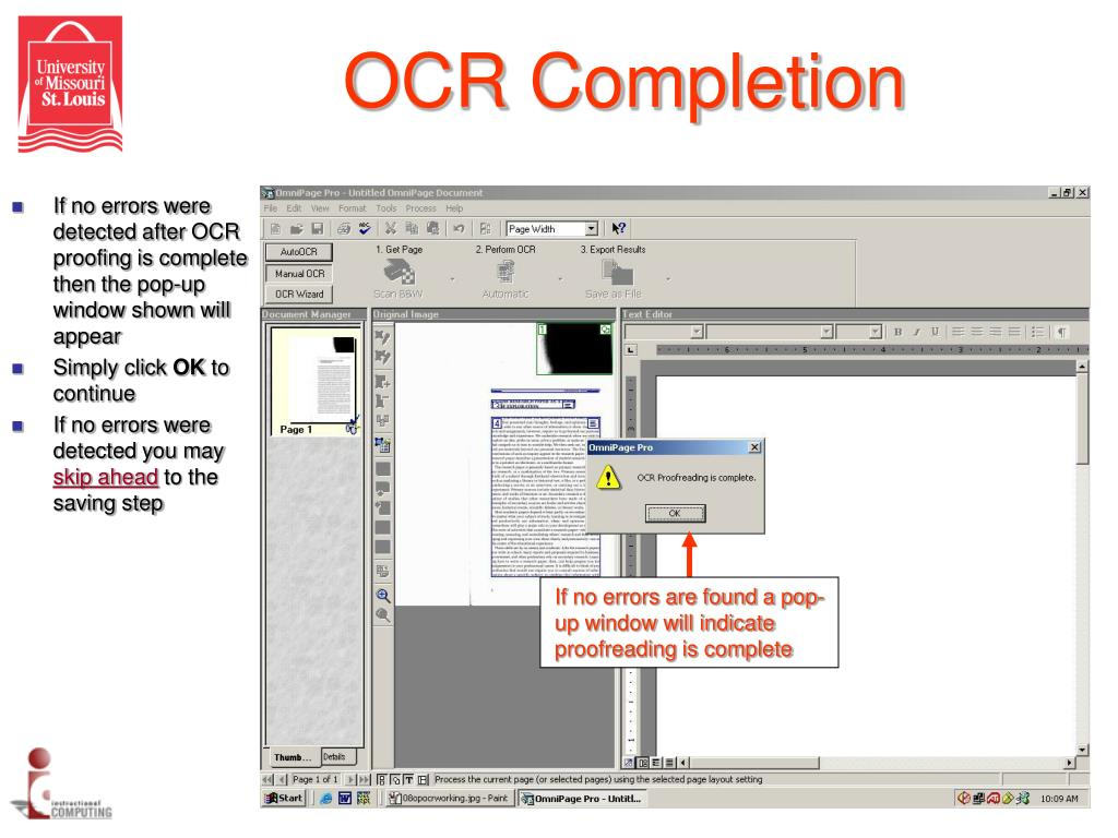 OCR Completion