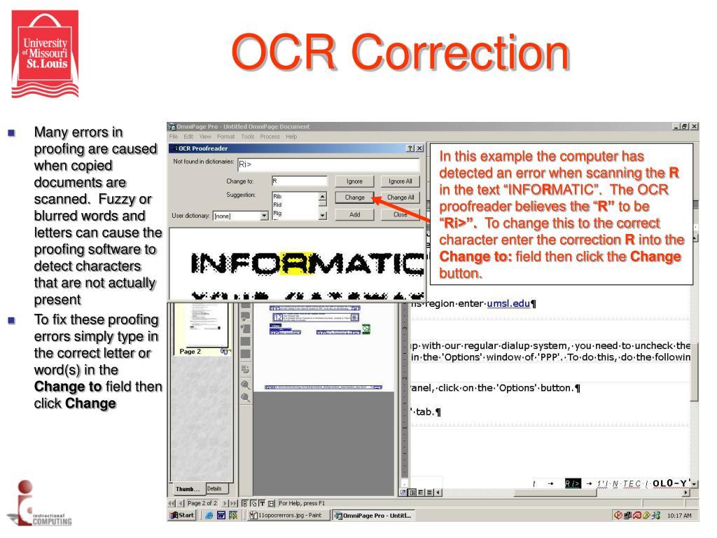 OCR Correction