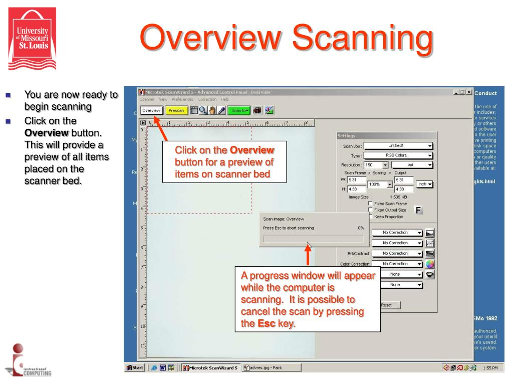Overview Scanning