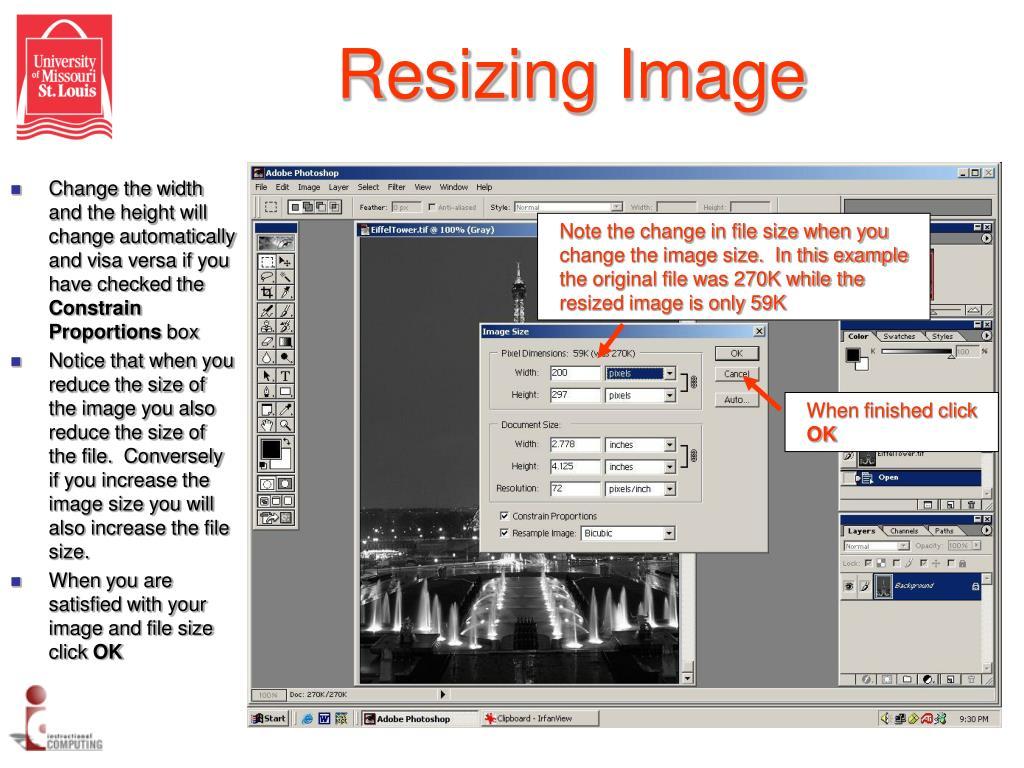 Resizing Image