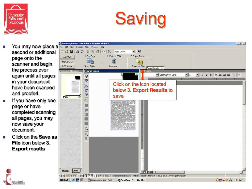 Saving