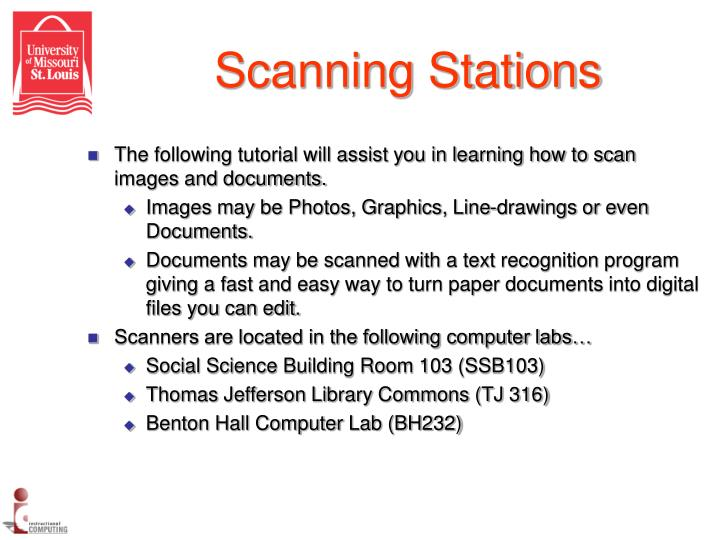 Scanning stations