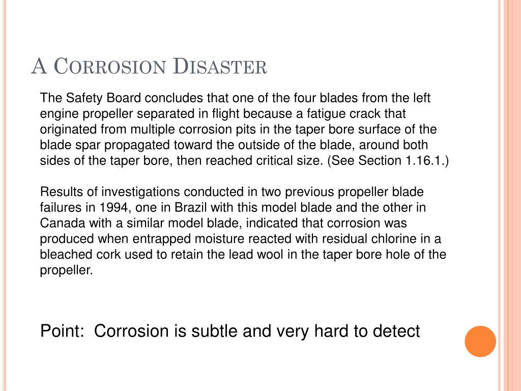 A Corrosion Disaster