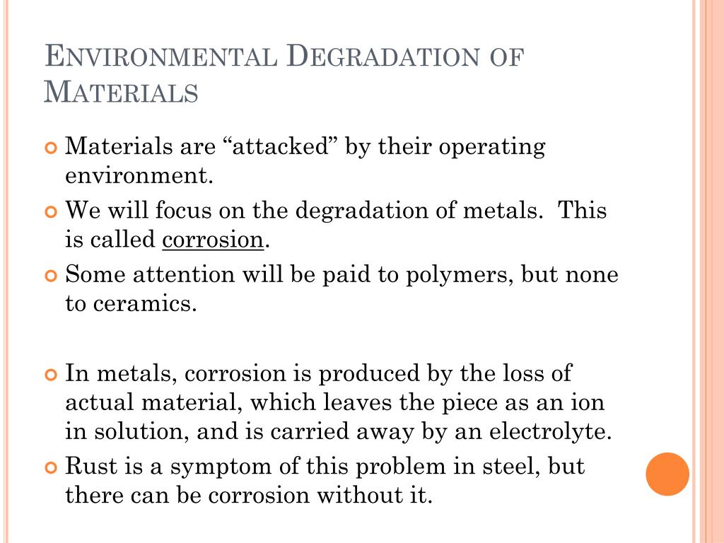 Environmental Degradation of Materials