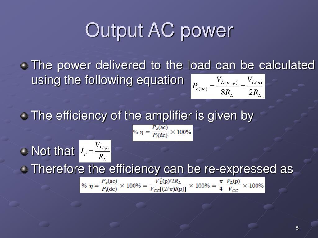 Output AC power