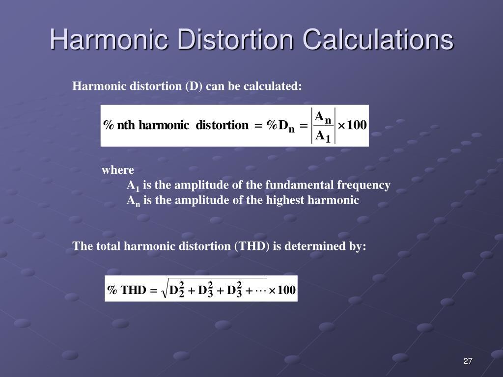 Harmonic Distortion Calculations