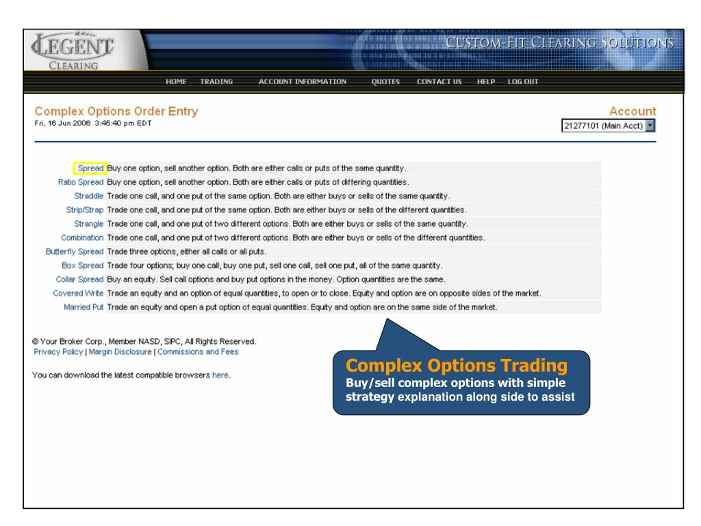 Complex Options Trading