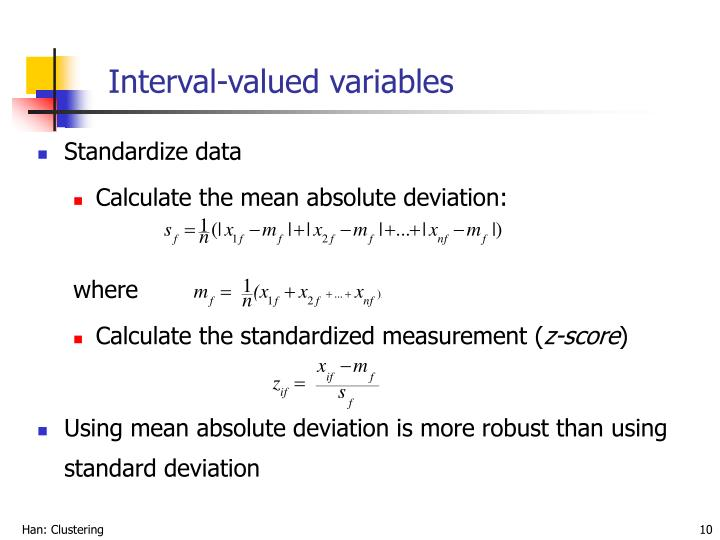 Interval-valued variables