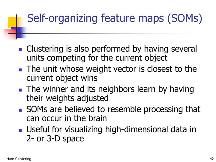 Self-organizing feature maps (SOMs)