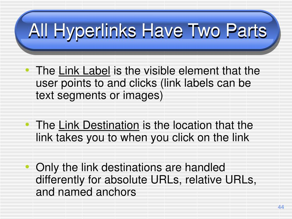 All Hyperlinks Have Two Parts