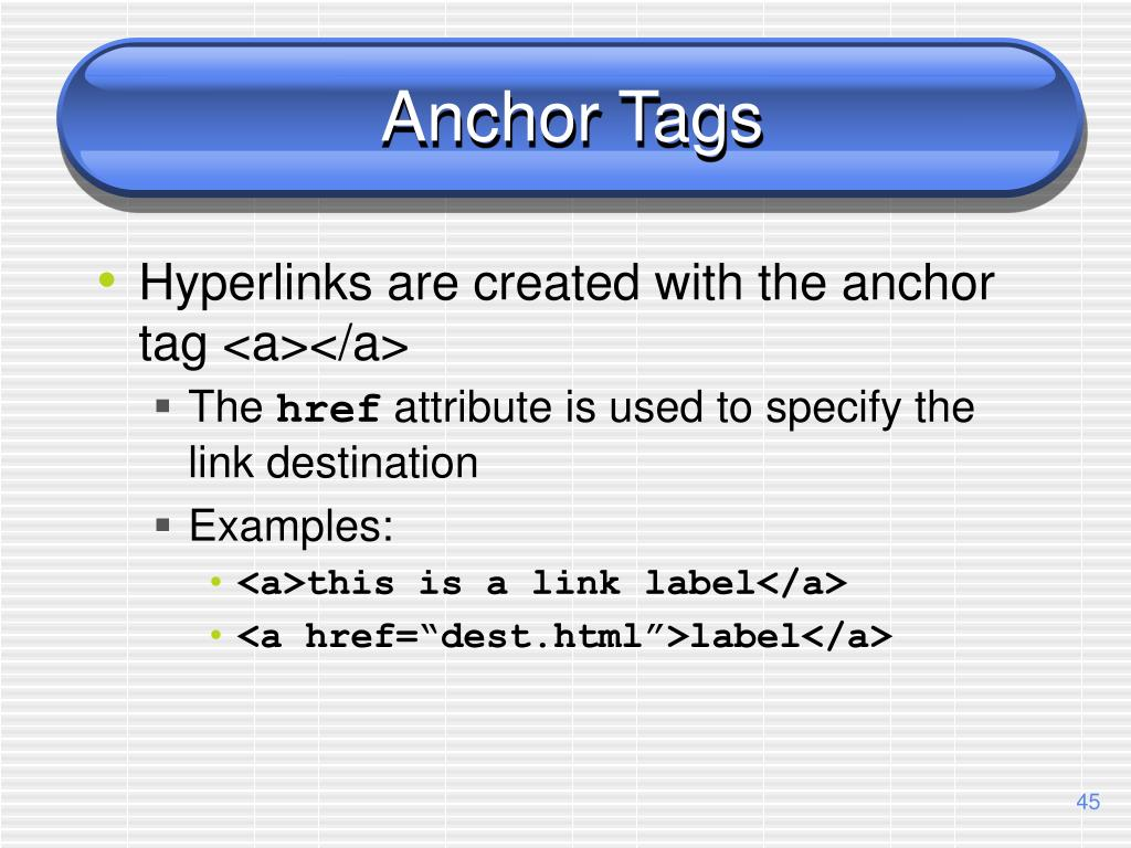 Anchor Tags