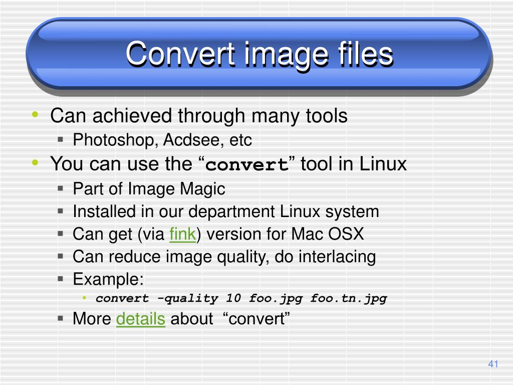 Convert image files