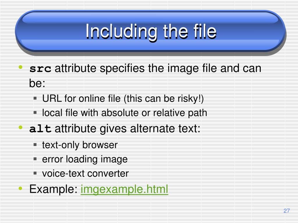 Including the file